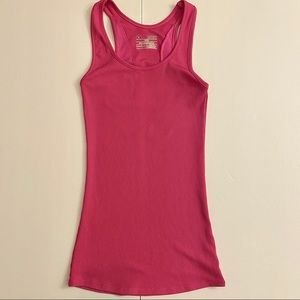 Women's Ribbed Tank Top XS Under Armour Pink